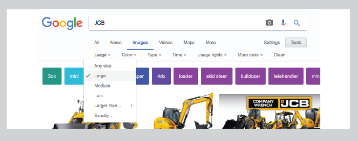 top tip for top quality images - image - tools in search bar